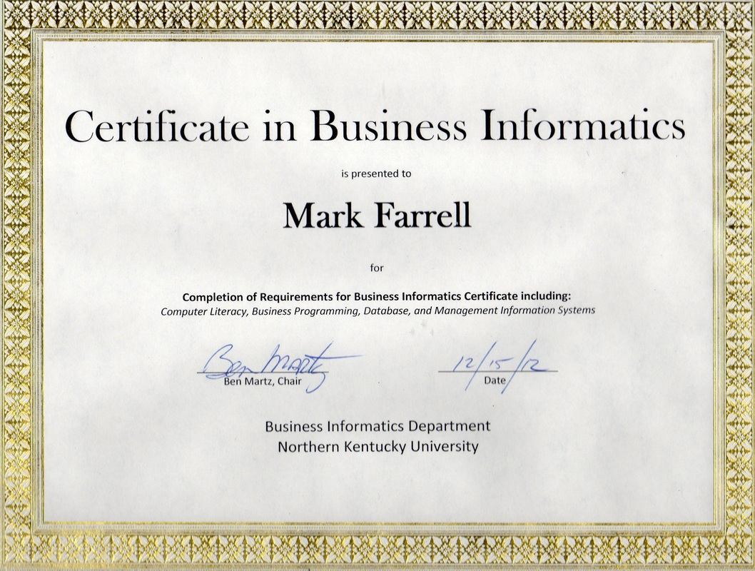 Certifications mark p farrells e resume picture 1betcityfo Image collections